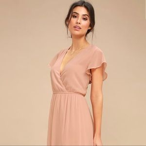 Lulu's Blush Lost in the Moment Dress M/L